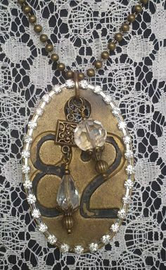 Repurposed Cow Tag Antique Necklace. by SecretStashBoutique, $39.99
