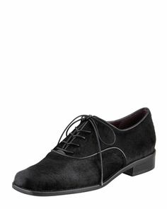 Tribecca Calf Hair Oxford by Stuart Weitzman at Bergdorf Goodman.
