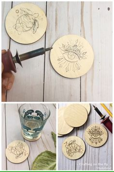 Wood burning coasters DIY tutorial,Make your own personalized wood coasters with this wood burning tutorial easy DIY How To Produce Wood Art ? Wood art is usually the job of shaping aro. Wood Burning Tips, Wood Burning Techniques, Wood Burning Crafts, Wood Burning Patterns, Wood Burning Projects, Wood Burning Stencils, Stencil Wood, Pyrography Patterns, Pyrography Ideas
