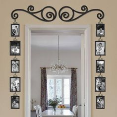 Beautiful way to showcase a doorway/frame a plain wall area
