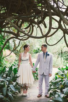 Garden elopement // Sunken Gardens Wedding // St. Petersburg, FL