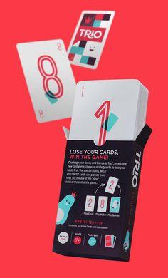 Uso de cores fortes - Contraste // Trio Card Game