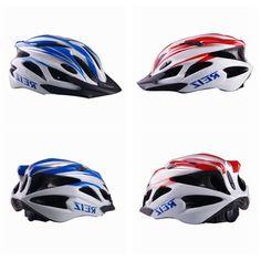 Bicycle Helmet Bike Cycling Carbon Helmet BMX MTB Road Blue Red