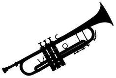 Black Trumpet Set of 4 Temporary Tattoos (Waterproof Lasts 3 to 4 days)
