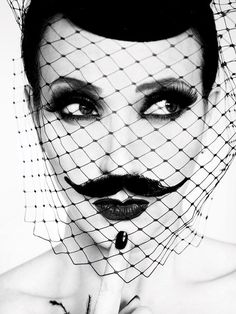 RUVEN AFANADOR -The bearded lady... moustache style.
