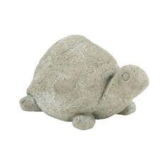 Benzara Grey Polystone 8 x 15 Tortoise Sculpture (Gray) (Resin)