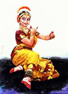 29 Ideas Dancing Drawings Watercolors For 2019 Indian Women Painting, Indian Art Paintings, Indiana, Dancing Drawings, Indian Classical Dance, Dance Paintings, Indian Folk Art, Figure Painting, Woman Painting