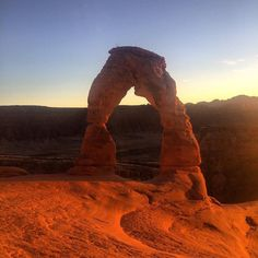 Delicate Arch at sunset in Arches National Park Utah. #arches #archesnationalpark #moab #utah #landscape #nature #amazing #beautiful #wanderlust #travel #picoftheday #photooftheday #instagood #iphone #iphoneonly #iphonesia #delicatearch #igdaily #travelblog #travelgram #igtravel #adventure #sunset by tannerbradbury