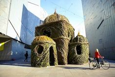 Ballroom is a giant willow nest in Federation Square, Melbourne, Victoria, Australia that has tall arched ceilings and celestial windows! http://su.pr/4X5Z83