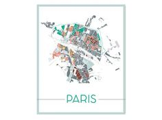 Tableau carte paris fly