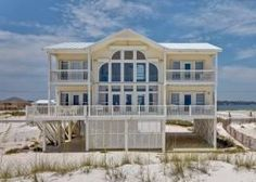 Gulf Shores, AL: This beautifully decorated 2-story, 4-bedroom, 4-bathroom home sits directly on the sparkling waters of the Gulf of Mexico. By the Sea is approximatel...