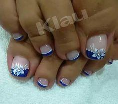 Images Of toe Nail Designs . 28 Images Of toe Nail Designs . the Best Nail Designs Ideas Mey Nail Art Ideas Blue Toe Nails, Pretty Toe Nails, Toe Nail Color, Summer Toe Nails, Feet Nails, Toe Nail Art, My Nails, Blue Toes, Nail Designs Toenails
