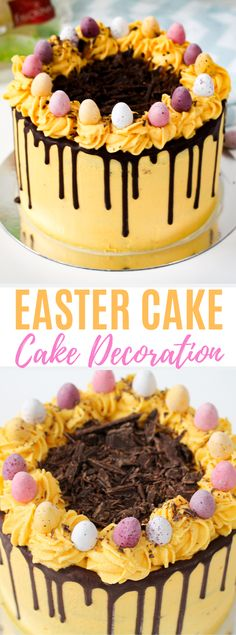 This easy traditional Easter cake decoration recipe is just what you need to bring family and friends together this East. Mini Desserts, Easy Desserts, Delicious Desserts, Easter Cake Easy, Easter Treats, Easter Food, Slow Cooker Desserts, Cake Recipes, Dessert Recipes