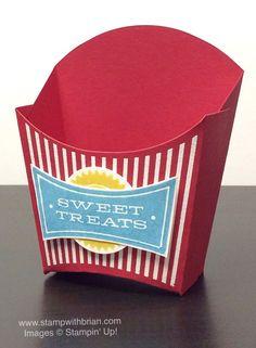 box with embossed lines Hamburger Box, Fondant, Fry Box, Chocolates, Gift Card Boxes, Carton Box, Easy Diy Gifts, Stampin Up Catalog, Pillow Box