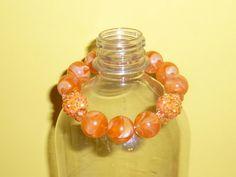 Handmade Glass Bead and Rhinestone Bracelet by TrueColorsBoutique, $8.00