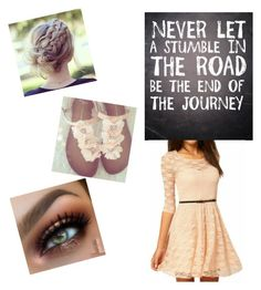 """""""Never give up"""" by destinypaynter ❤ liked on Polyvore featuring beauty"""