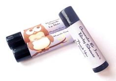 LAVENDER OWL Themed Lip Balms Personalized Baby Shower Favors by MajesticSoaps, $1.00