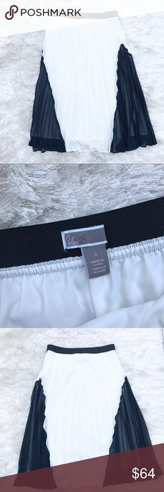 NWOT || CHELSEA28 Accordion Pleat Skirt NWOT. Black and white accordion pleased skirt from Chelsea 28. Just removed tags and it doesn't fit quite right so poshing! Chelsea 28 Skirts Midi