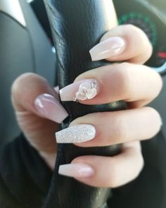 - Beautiful Flower Nail Art Designs & Ideas Flower designs on nails are always super cute, simple and elegant. They create a really cool effect wit… 3d Nail Designs, Acrylic Nail Designs, Elegant Nail Designs, Nails Design, Glam Nails, Cute Nails, 3d Nails, Stiletto Nails, Pink Nails