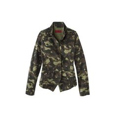 Coffee Shop Junior's Jacket -Camo Print ($20) via Polyvore