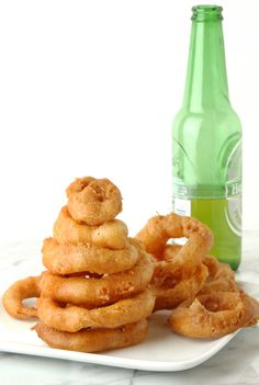 Light, fluffy, and super crunchy, this onion ring batter gets its perfect texture from (you guessed it) Bisquick! Recipe: Beer-Battered Onion Rings   - CountryLiving.com