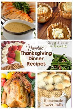 Favorite Thanksgiving Recipes - appetizers, turkey, stuffing, side dishes, rolls, gravy, pies and even leftovers! ... this post has every recipe I need for a yummy Thanksgiving dinner!