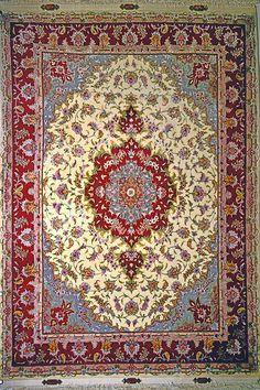 Tabriz Silk Persian Rug - Item# 10 Size: 200 x 150 (cm)      6' 6 x 4' 11 (ft)
