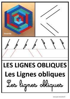 Lignes obliques – Graphisme – Affichages pour la classe – Maternelle – PS – MS – GS – Pass Education