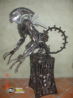 Image detail for -Metal Monsters - Cool Pictures, Cool pics, Cool Photos, Cool images Cool Monsters, Movie Characters, Metal Art, Decor, Decoration, Metal Yard Art, Decorating, Deco