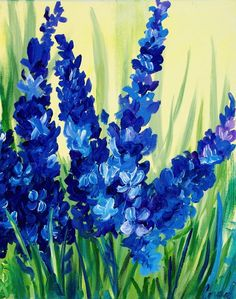 flower art Trendy craft canvas kids diy art I - art Spring Painting, Diy Painting, Image Painting, Acylic Painting Ideas, Abstract Painting Easy, Spring Drawing, Painting Trees, Painting Pictures, Blue Painting