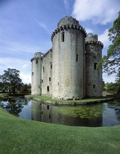 Nunney Castle is in Sommerset, England, built by Sir John DeLamare in late 14th century