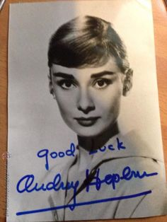 Foto con Autografo de Audrey Hepburn