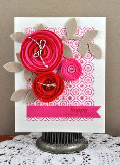 Dawn McVey - tutorial for the rolled flowers included