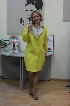 Отчет о пальто из ткани Дабл (двуслойной). Пальто без подкладки с потайными швами c карманом Max Mara