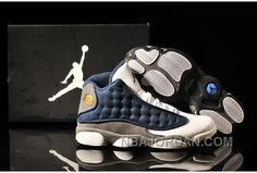 22e383760881 Now Buy Air Jordan 13 White Navy Blue Grey Online Save Up From Outlet Store  at Pumarihanna.
