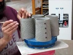 Adding Buttons to pottery