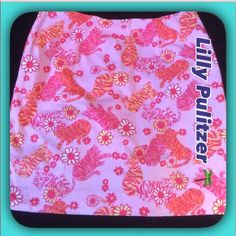 "Lilly Pulitzer🌴 Pink Tiger Skirt💗 Lilly Pulitzer Pink /Orange/Yellow Tiger  Skirt. Adorable Skirt in wonderful condition with Fun and Playful Tigers! Measures :18.25"" length/ Waist 15.5"" Flat/ Hips 20.5"" Lilly Pulitzer Skirts"