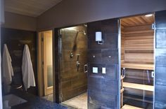 steam room, shower, sauna