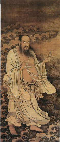 汉钟离像 赵麒 Hàn zhōnglí the Eight Immortals