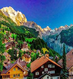Wengen, Switzerland in the Bernese Oberland.