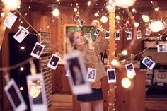 my dream home decor, with light bulb, instax photo, hanging around at every corner!