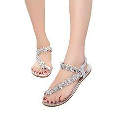 4baeed0643c4 2018 Fashion Plus Size Shoes Woman Sandals Fashion Bohemian Sleeves Flat  Sandals Summer Ladies Silver Clip Toe Shoes
