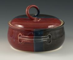 handmade pottery casserole dish with lid - Google Search