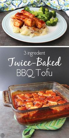 Sweet-and-sticky baked BBQ tofu is perfect parked next to your ...