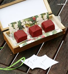 red velvet fudge - for christmas