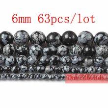 "Free Shipping 4 6 8 10 12mm Black Snowflake Obsidian Round Shape Beads Strand 15"" Jewelry Making(China (Mainland))"