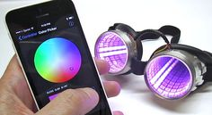 """Incorporating Bluetooth in a project no longer requires the most advanced microcontroller or lots of code…our Bluefruit LE UART Friend and accompanying app for iOS and Android make it easy! Building upon our popular """"Kaleidoscope Eyes"""" NeoPixel goggles project, this guide shows how Bluetooth LE can be used even with the most modest setup."""