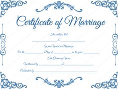 Free wedding printables Printable-Traditional-Corner-Marriage-Certificate Tips For Setting Up Your A Certificate Images, Wedding Certificate, Marriage Certificate, Certificate Design, Certificate Templates, Templates Printable Free, Printables, Adoption Certificate, Printable Certificates