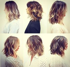 ombre shoulder length wavy hair - Google Search - love them all!!!