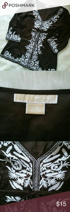 Michael Kors top Super cute top perfect for an island getaway or a walk in the city. Drawstring waist. Not stretchy. 100% cotton. MICHAEL Michael Kors Tops